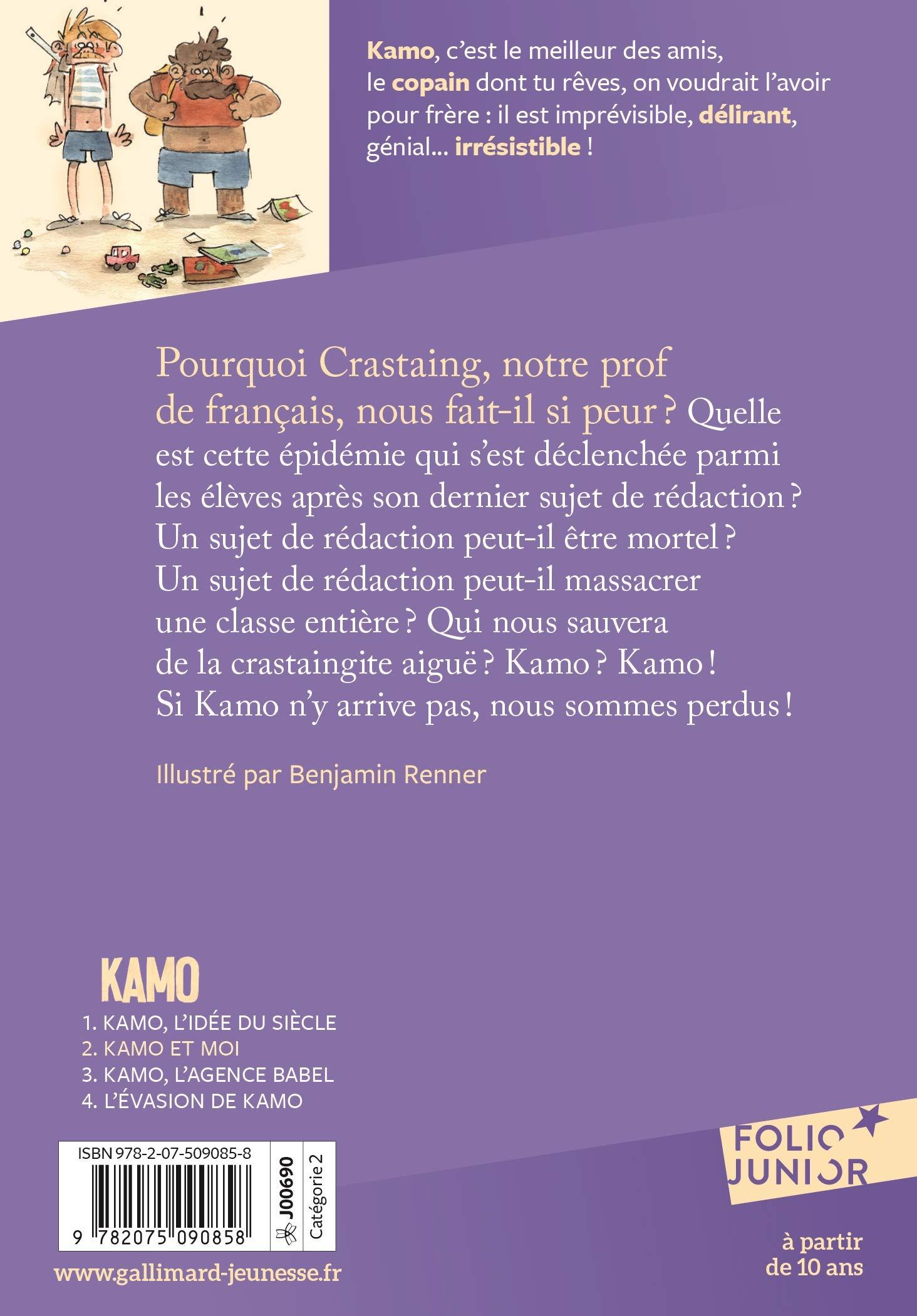 Amazon.fr - Une aventure de Kamo, 2 : Kamo et moi - Daniel Pennac, Benjamin  Renner - Livres