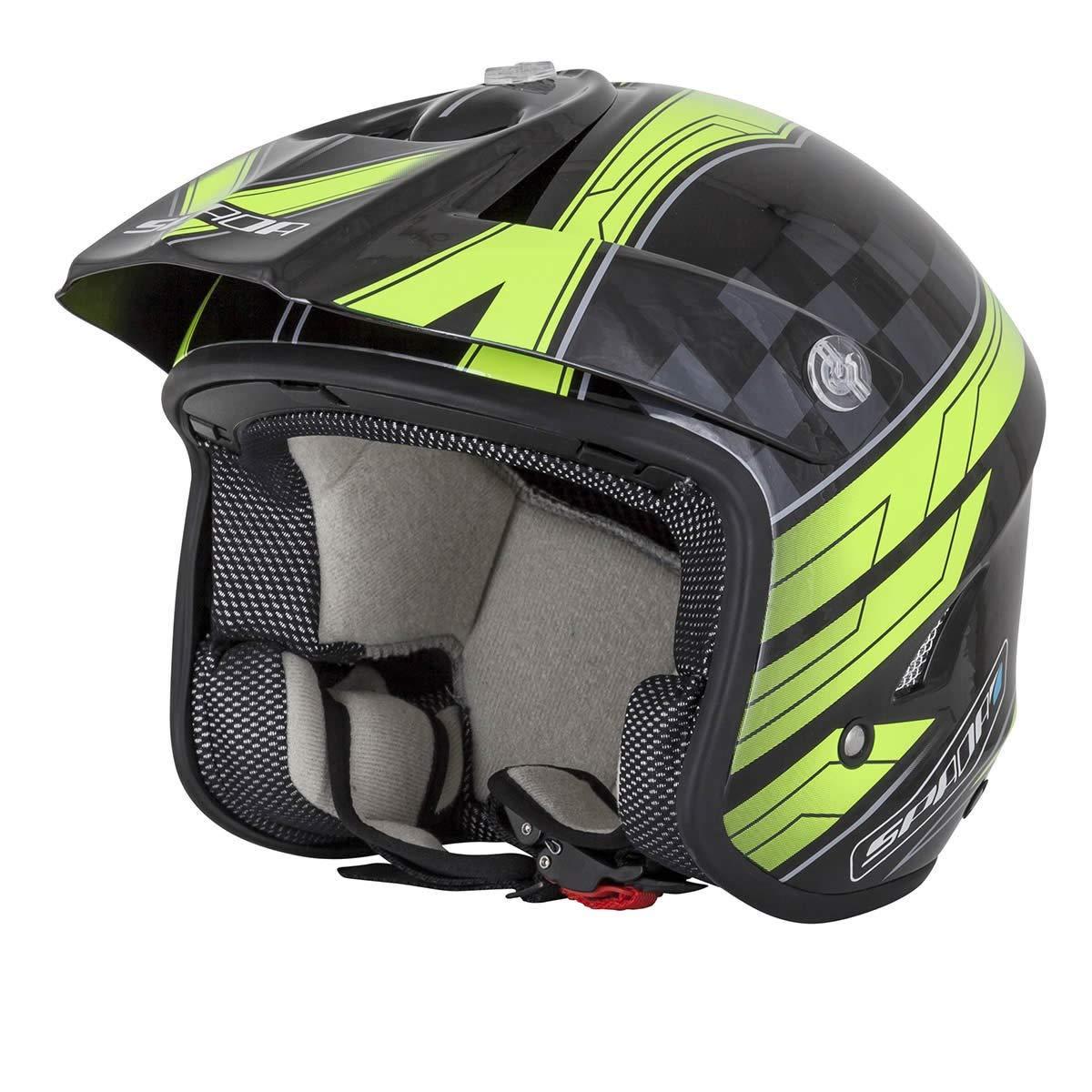 Spada Motorrad Helm Edge Explorer Studien schwarz/Fluo