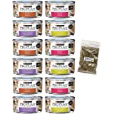 Purina Bundle Pro Plan Savor Cat Food Variety Pack, 4 Flavors, 5.5-Ounces Each (12 Total Cans) with Catnip