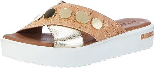 Tamaris Damen 27212 Offene Sandalen mit Keilabsatz, Silber