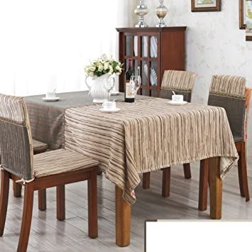 Chinese-style Stripes Hotel Chair Covers SetRetro Solid Continental Dining Table Round Table  sc 1 st  Amazon.com & Amazon.com: Chinese-style Stripes Hotel Chair Covers SetRetro Solid ...