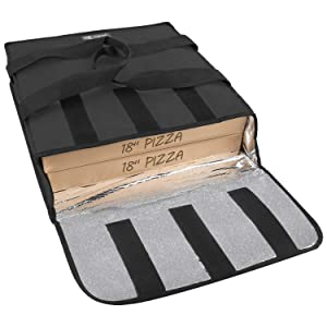 YOPRAL Pizza Delivery Bag Insulated Food Warmer Bag Carry Hot Moisture Free Carrier for 2-16
