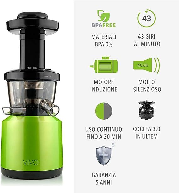 Clase Italia 70430053 Extractor de zumo vivo baja Velocita 43 rpm ...