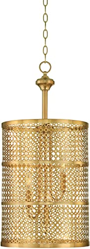 Savoy House 3-1282-3-325 Pendant with Metal Mesh Shades, Rubbed Brass Finish