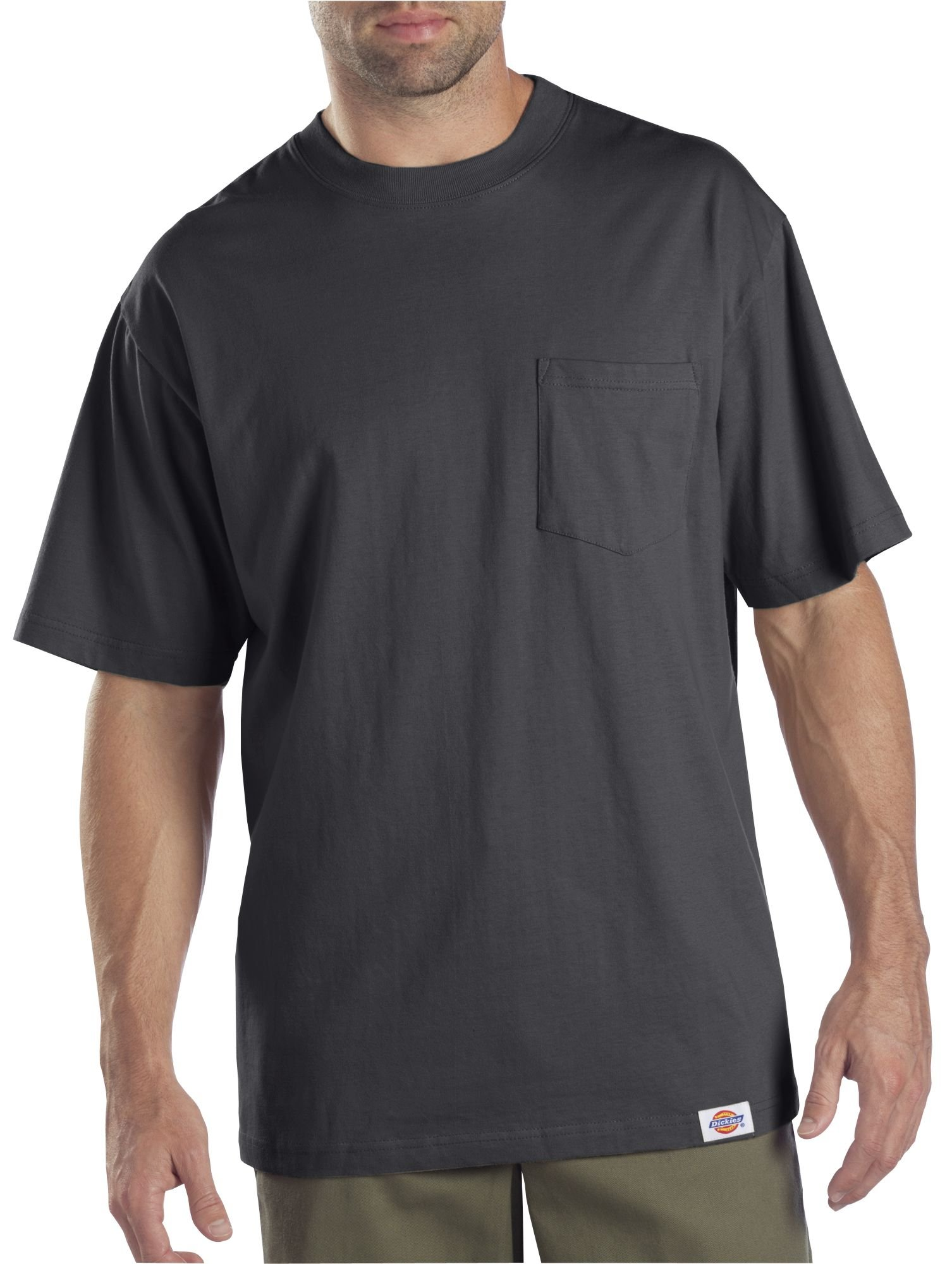 Dickies Men's Short Sleeve Pocket T-Shirt 2-Pack, Charcoal, Large