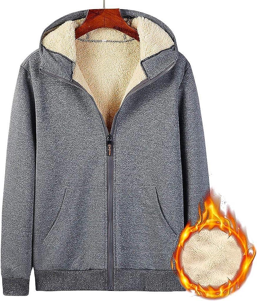vkjany Mens Sportswear Suit Plus Fleece Hooded Sweater Baseball Suit Suit Lambskin