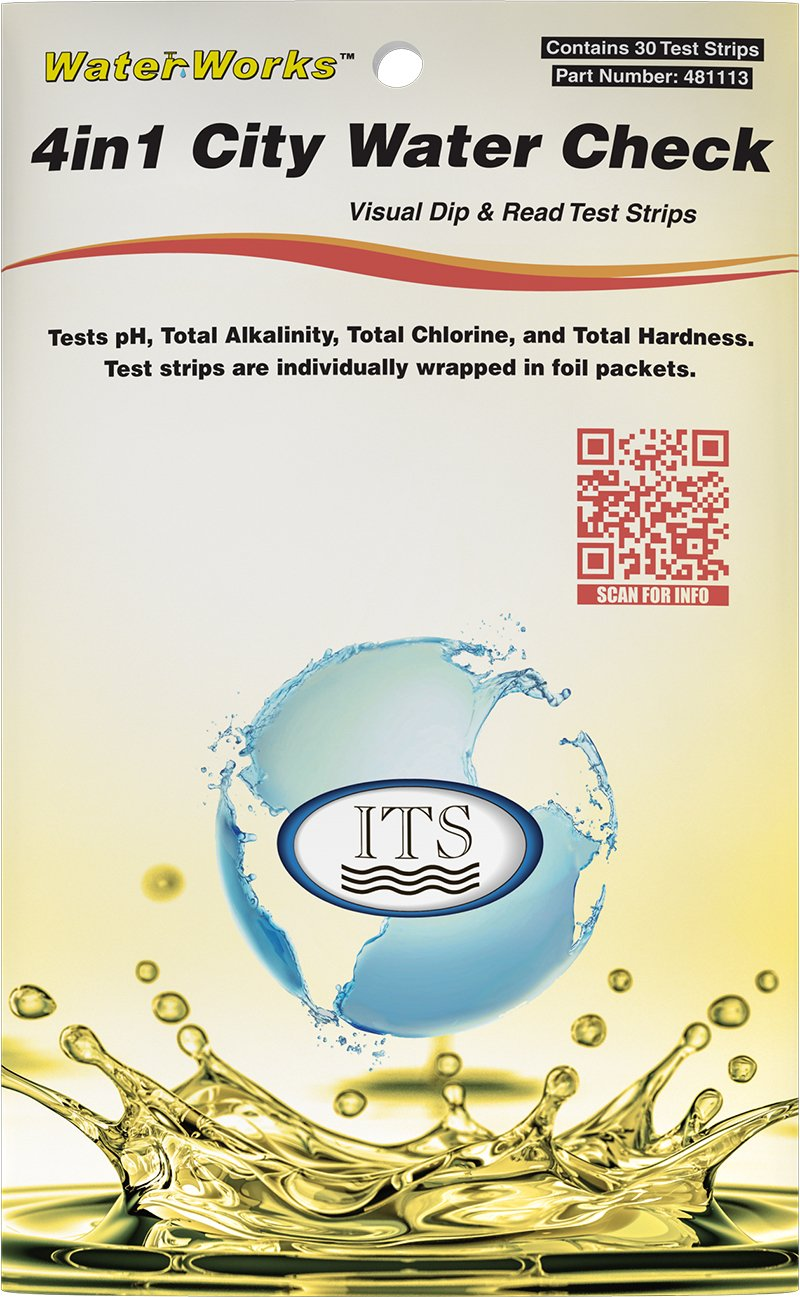 Sensafe Industrial Test Systems 481113 WaterWorks 4in1 City Water Test Strips 30 Pack Inc BISS