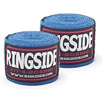 "Blue Ringside Boxing Junior 120/"" Cotton Hook and Loop Handwraps"