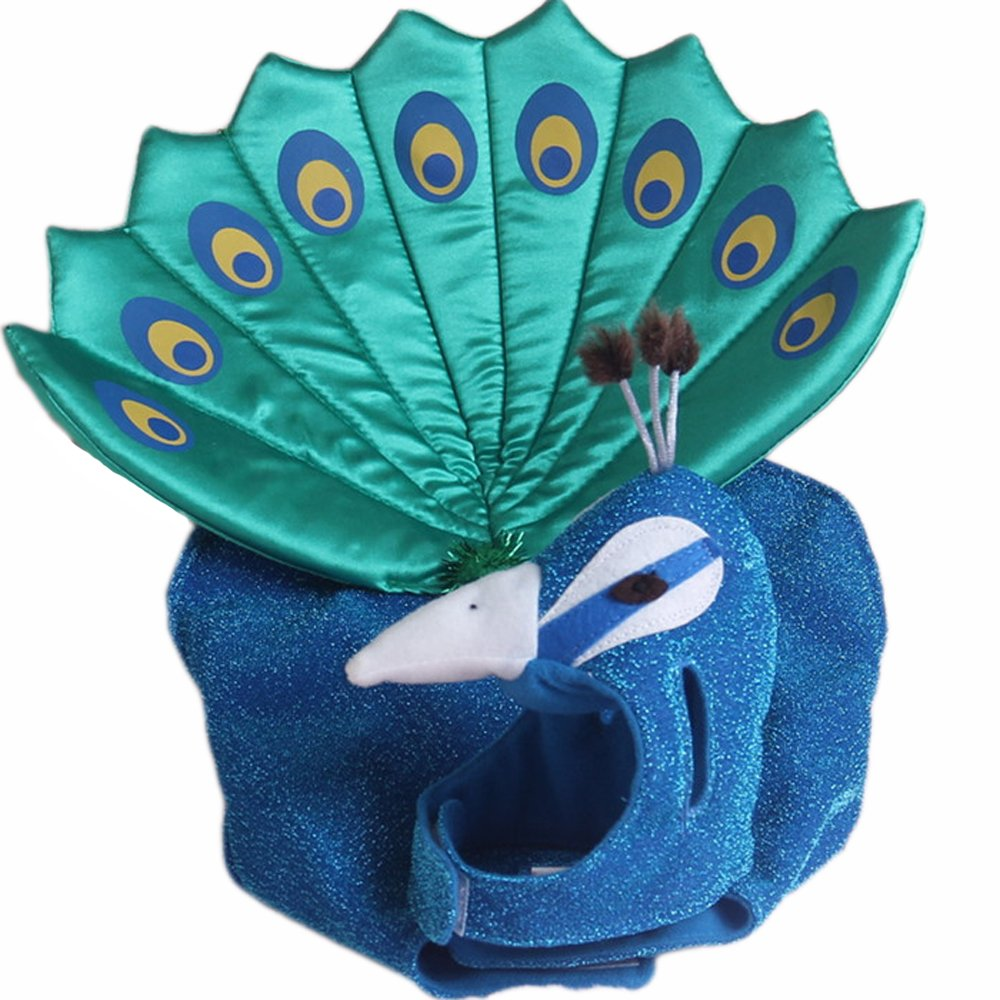 Small Pet Peacock Costumes Pet Dog Clothes
