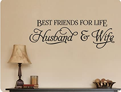 Amazoncom 34x12 Best Friends For Life Husband And Wife Romance