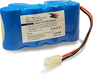 ZZcell Battery for Euro Pro Shark Vacuum Carpet and Carpet Sweeper XB1918, VX3, V1917, V1950 2000mAh