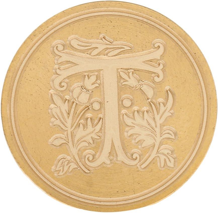 HomeDecTime Siegellack Classic Initial Wax Seal Stamp Alphabet 26 Buchstaben A Z Retro Holz Stempel DIY Briefmarken Mit Holzgriff B