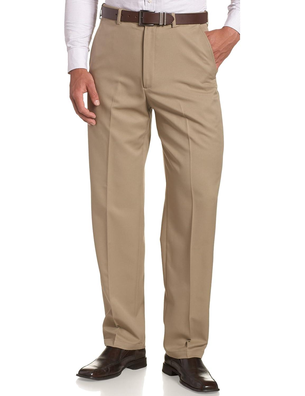 268cf59f2bbea Haggar Mens Cool 18 Hidden Expandable-Waist Plain-Front Pant