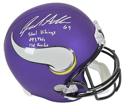 e202f064c Vikings Jared Allen quot Skol Vikings quot  Signed Full Size Rep Helmet BAS  Witnessed - Beckett