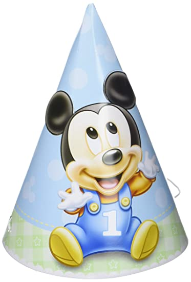 Mickey Mouse 1st Birthday Party Hats 8 Ct Amazonin Toys Games