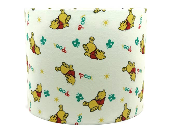 Winnie the pooh lampshade or ceiling light shade 10 flannel winnie the pooh lampshade or ceiling light shade 10 flannel material drum girls boys bedroom aloadofball Gallery