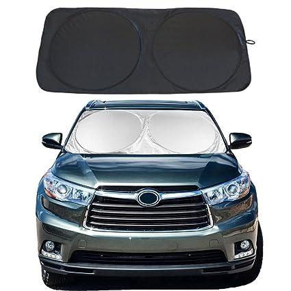 Amazon.com  YiDee Windshield Sun Shade Car Window Shade UV Reflector Keeps  Vehicle Cool Folding Sun Visor Heat and Sun Reflector (Large 63