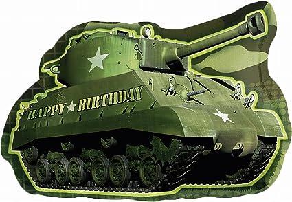 1e7399c4ad54d Amazon.com: Anagram International Army Tank Birthday Shape Pack, 26 ...
