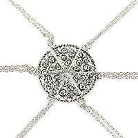 Pizza Slice Pendant Friendship Necklace Best Friend Forever Family Love Necklace ( 1set 6pc)