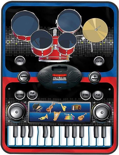 MKQB 24 Teclado El Piano Electrónica La Musica Alfombra de ...