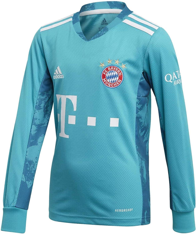 adidas 2020-2021 Bayern Munich Home Goalkeeper Football Soccer T-Shirt Jersey (Kids)