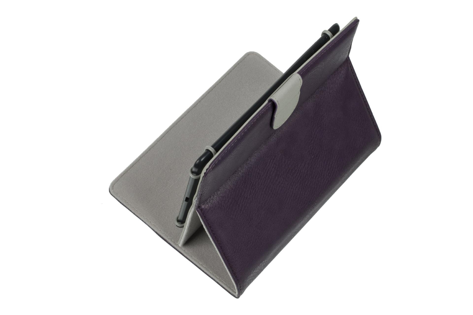 Rivacase 3014 Universal Tablet Cover Case, Stylish, Protective, Purple Color