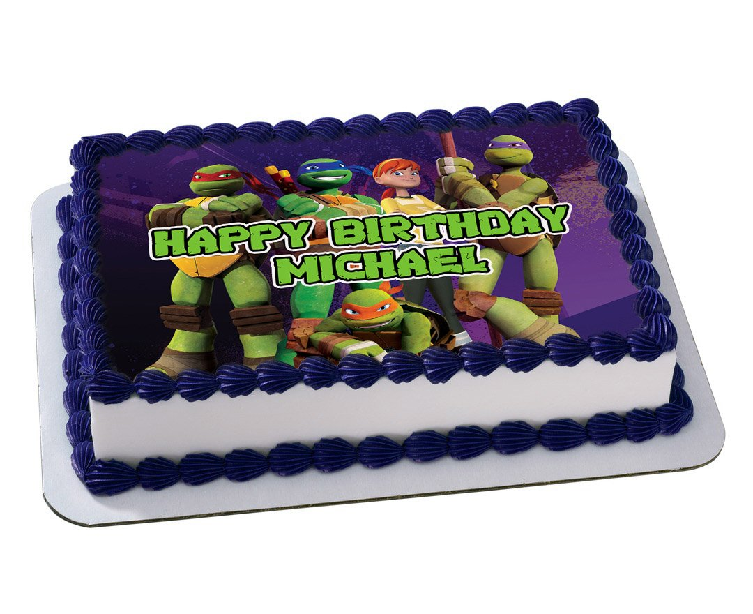 TMNT Edible Icing Cupcake Toppers PRE-CUT Sheet of 15 2/""