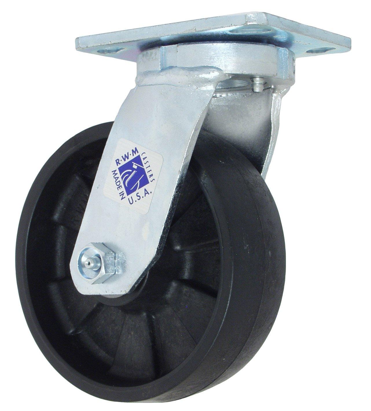 RWM Casters 47-PNR-0620-S 47 Series 7-1/2'' High, 6'' Pinnacle Wheel, Swivel Caster