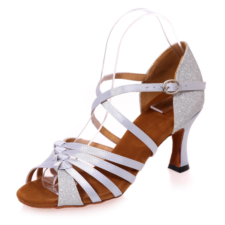 Frauen Latin Dance Schuhe Kunstleder Kunstleder Kunstleder Sandalen niedrig mit 7,5 cm Multi-Farbe große Yards B077DC8LTQ Tanzschuhe Haltbarer Service 5d4b26
