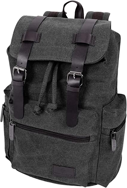 Men Retro Storage Canvas Leather Shoulder Bags Messenger Hiking Bookbag Satchel