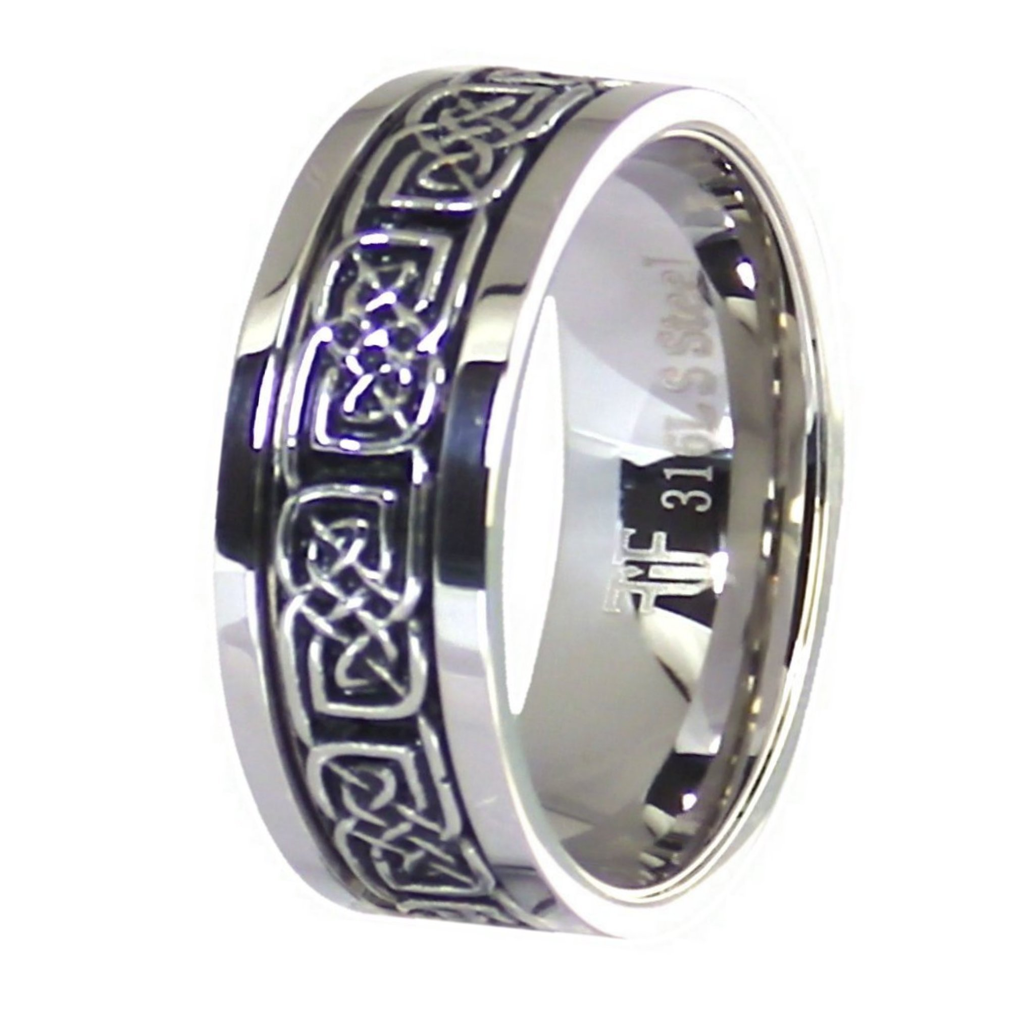 Fantasy Forge Jewelry Celtic Knot Stress Reliever Stainless Steel Spinner Ring Size 7