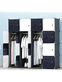 MEGAFUTURE Portable Wardrobe Closet For Hanging Clothes, Wall Décor,  Combination Armoire, Modular Cabinet