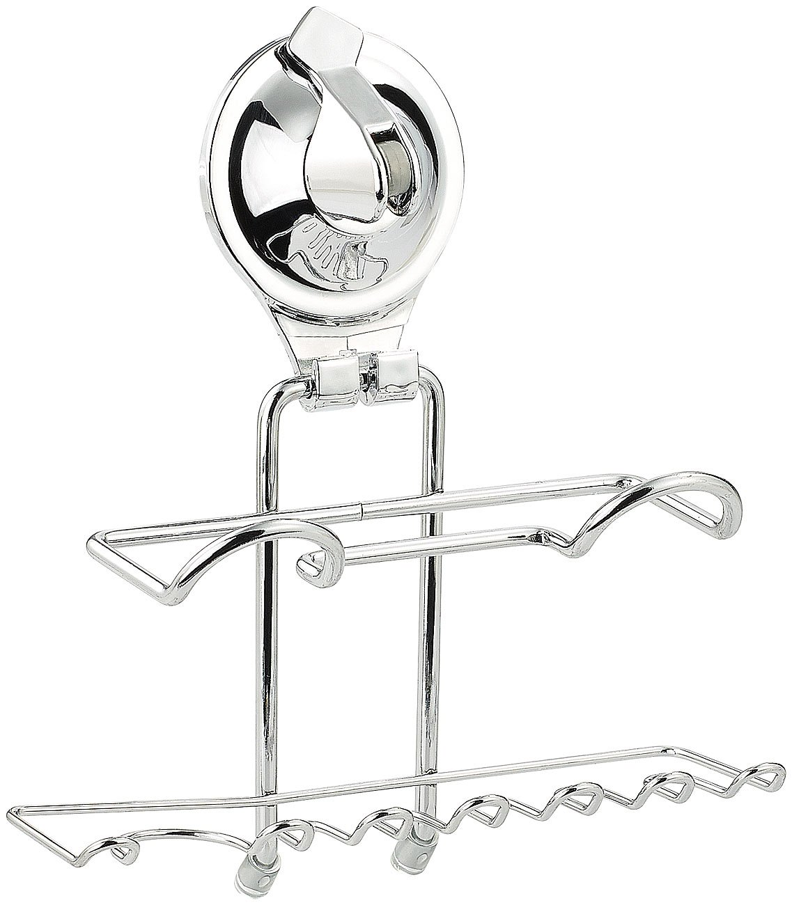 Carlo Milano Toothpaste & Toothbrush Holder with Suction Cup Mount, Stainless Steel