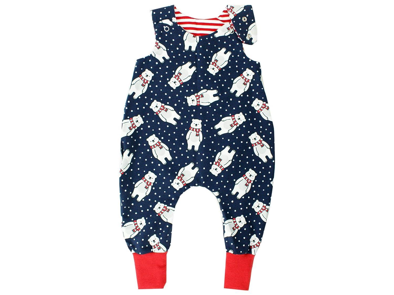 rot /· /Ökotex 100 zertifiziert /· Gr/ö/ßen 50-92 Kleine K/önige Baby Strampler Jungen Baby Body /· Modell Winter Eisb/är Frosty blau