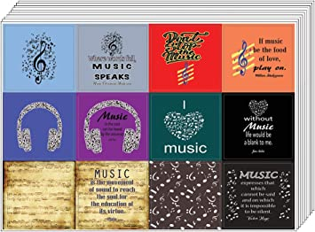 Inspiring Musical Wall Art Decal Quote Sayings for Men Seniors Creanoso Music Theme Inspirational Quotes Stickers Teens Music Lovers Sticker Wall Decor Musicians 10 sheets Women Adults