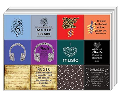 Amazoncom Creanoso Music Theme Inspirational Quotes Stickers 10