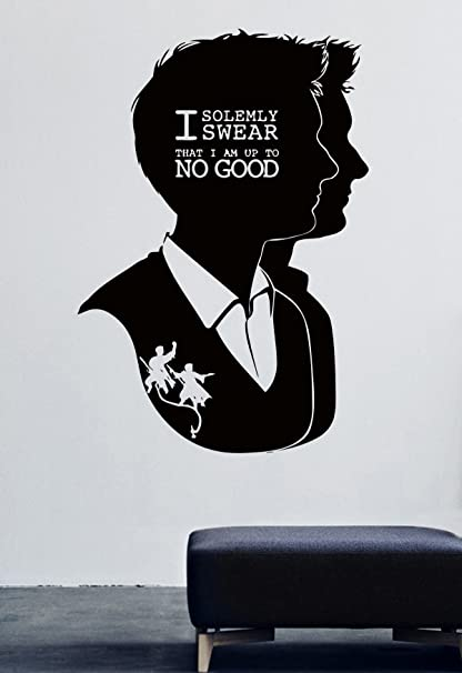Amazon Cool Poster Fred And George Weasley Vinyl Wall Decals Awesome Fred The Movie Quotes