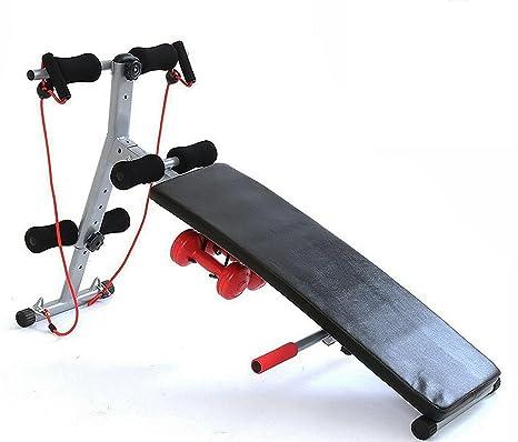 GYM MASTER Fitness plegable ajustable banco de pesas Ejercicio Core Abs y con potencia cuerdas y