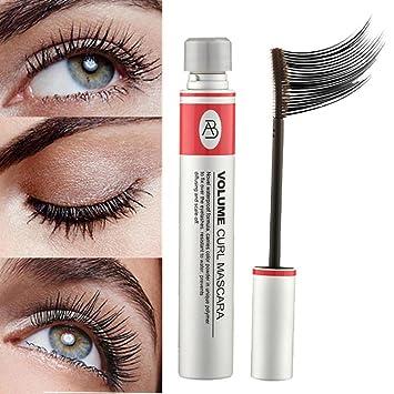 23a90b8c676 Amazon.com : 3D Fiber Lashes Mascara, Staron Black Mascara Eyelash Long  Curling Extension Waterproof Mascara Eye Lashes Cosmetics Makeup Tool (A) :  Beauty