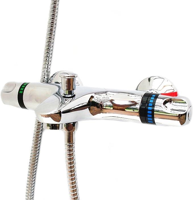 ENKI grifo termostático para llenar bañeras con salida pared ducha ...