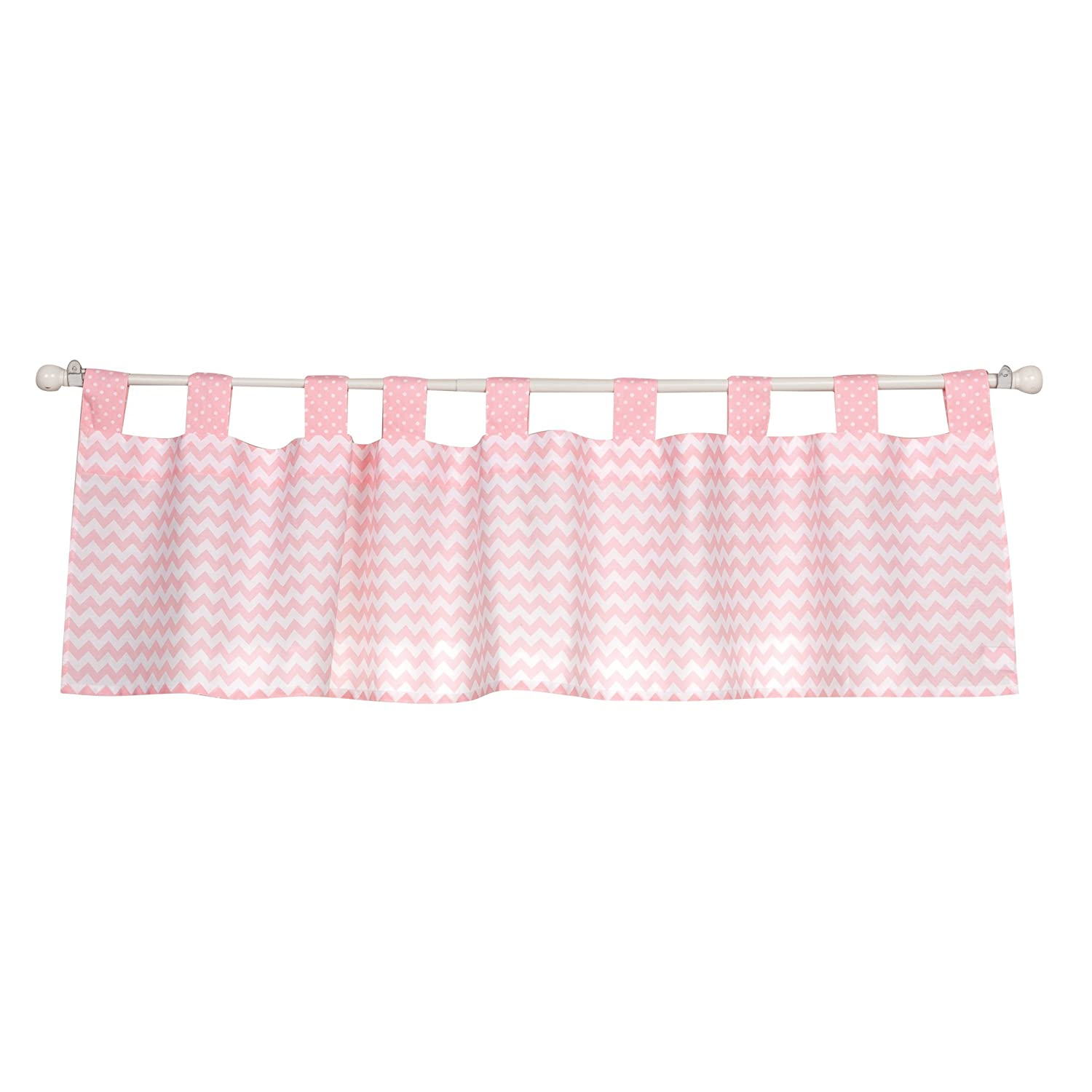 Brown Baby Doll Bedding Chevron Window Valance and Curtain Set