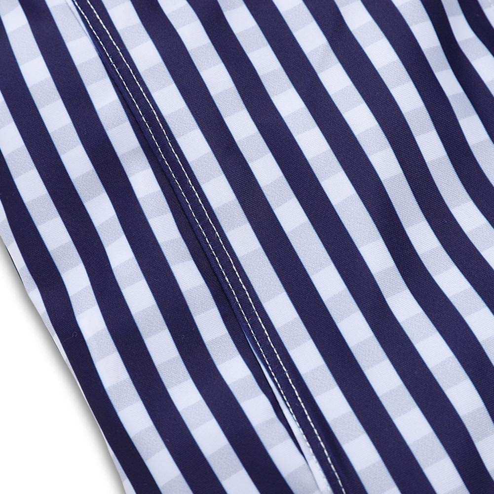 Amazingdeal One Piece Swimsuit Stripe Swimwear Ruffle Girls Kids Sleeveless Jumpsuit