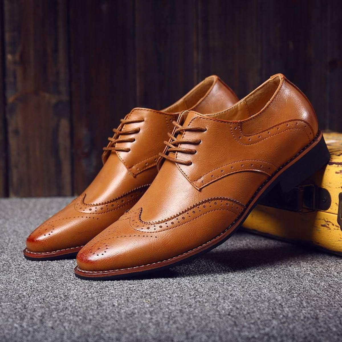 Männer Business Casual Schuhe Herrenschuhe Herrenschuhe Herrenschuhe Block Schuhe Niedrig Zu Helfen Lace Casual Schuhe 2c75ea