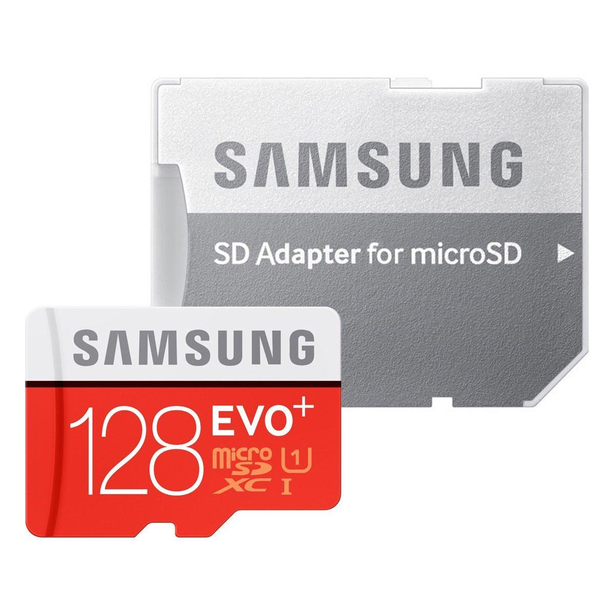 Samsung Memory Carte Mé moire 128 GB EVO Plus MicroSDXC UHS-I Grade 1 Classe 10 avec Adaptateur SD MB-MC128DAEU Carte mémoire Micro SD