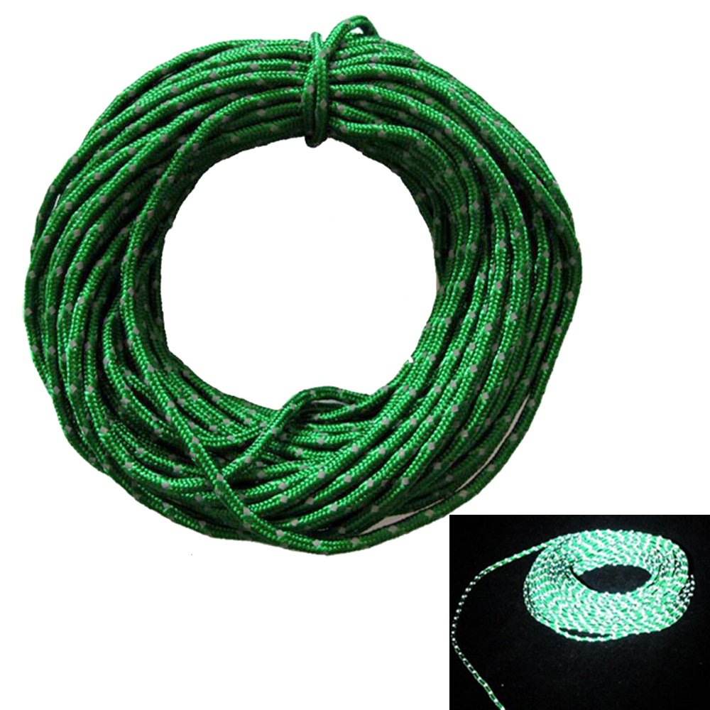 Intensity Reflective at Night 50 Feet Red Color LSD Shinetrip Nylon Guyline Tent Rope Camping Cord