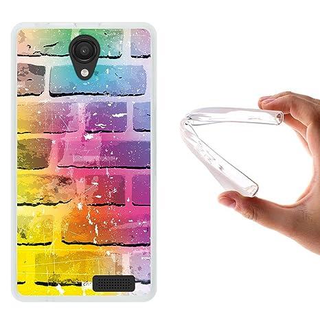 WoowCase Funda Energy Phone MAX 4G, [Energy Phone MAX 4G ] Funda Silicona Gel Flexible Pared de Ladrillo, Carcasa Case TPU Silicona - Transparente