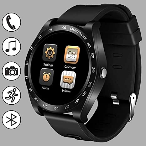 Smart Watch Fitness Tracker 1.56 Touchscreen for Men Women Sports Bracelet Pedometer Calories Sleep Monitor HD Camera Sedentary Call Reminder ...