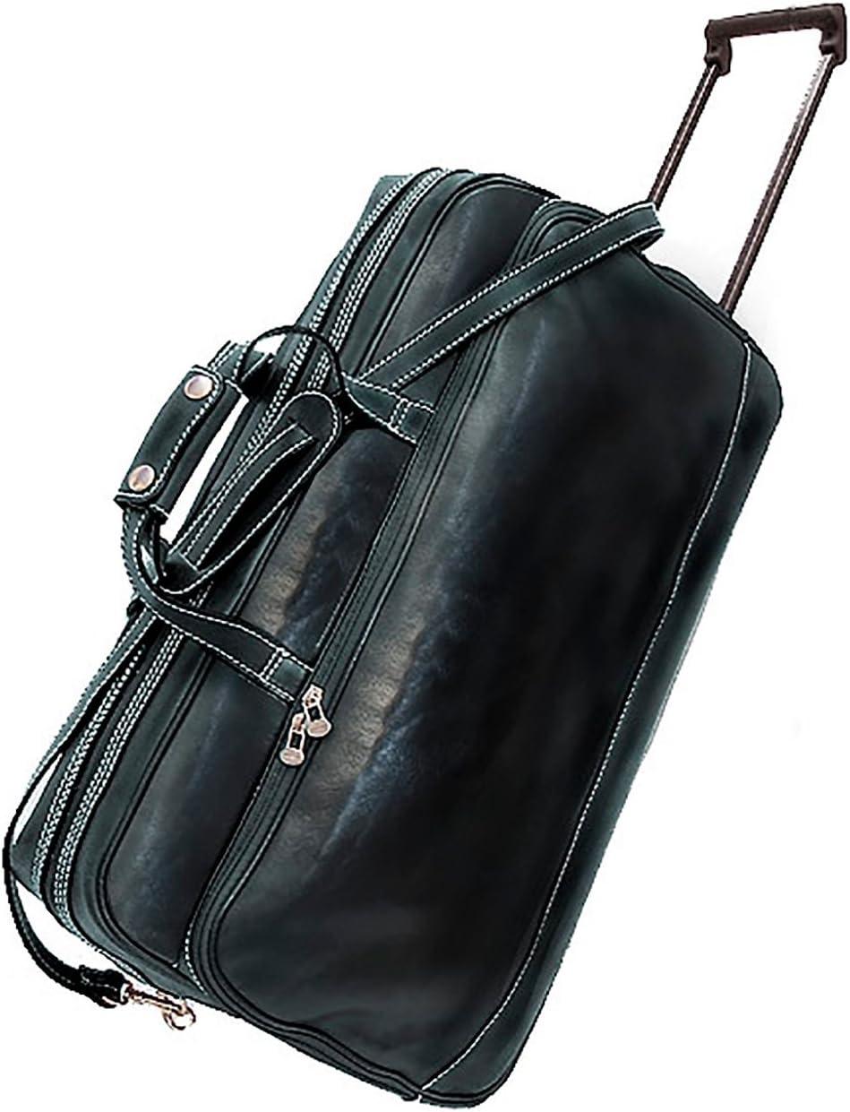 Floto Imports Luggage Milano Trolley Travel Duffle Bag Italian Leather