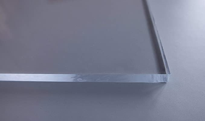 Homedeco-24 2 mm Starkes und stabiles Kunstglas 50 x 60 cm Acrylglas Kunststoffglas Ersatzglas Zuschnitt Polystyrol Klar Transparent