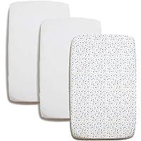 Niimo hoeslaken voor Chicco Next2Me hoeslaken set 2 stuks 100% katoen + 1 waterdichte matrasbeschermer afmeting 80x53…